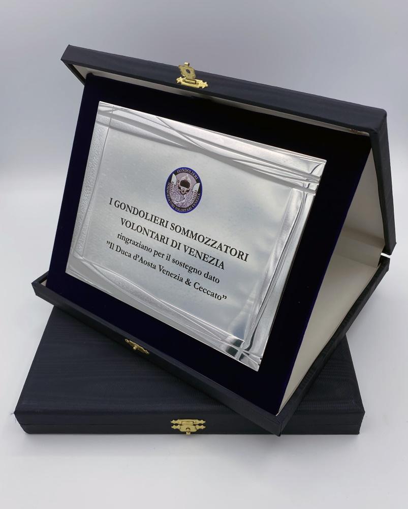 targa da riconoscenza premiazione in alluminio stampa alta definizione