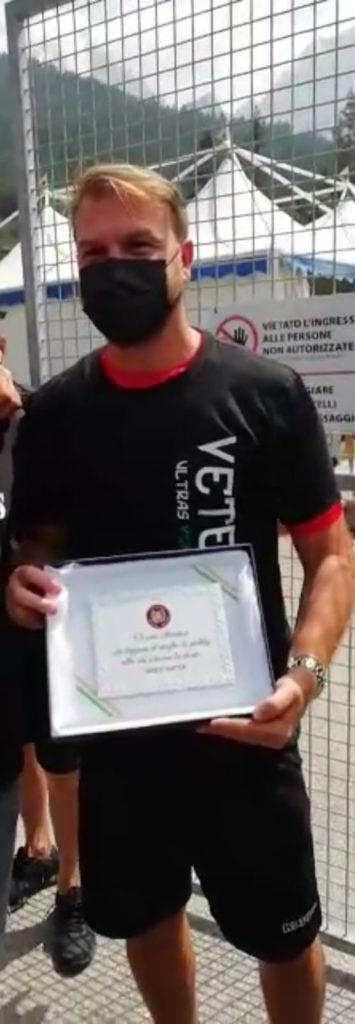 Mister Zanetti del Venezia premiato con le nostre creazioni.
